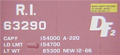 Micro Trains 07600070 RI 50' Boxcar 63290