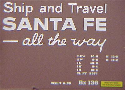 Micro Trains 73040 ATSF 40' Boxcar 39834