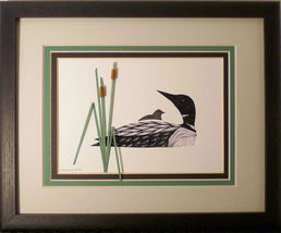 Quilled Loon & Baby - $175.00