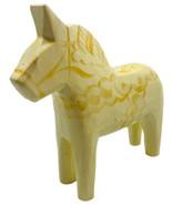 Unique Rare Swedish AKTA DALAHEMSLOJD Folk Art Horse White Gold 5 In Han... - $49.49