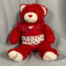 "Build A Bear Sweet Hugs & Kisses 16"" Plush Stuffed Teddy Outfit Hearts T... - $21.18"