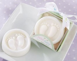Bridal Shower Favors Pitter Patter Soaps Set of 12 Soap Party Favors - $27.18