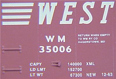 Micro Trains 33070 Western Maryland 50' Boxcar 35006