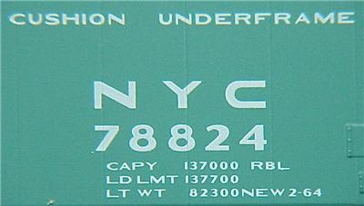 Micro Trains 32250 New York Central 50' Boxcar 78824