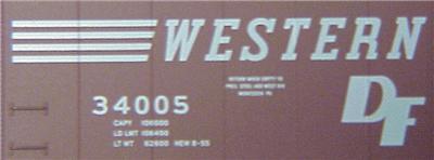 Micro Trains 31160 WM 50' Boxcar 34005