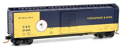 Micro Trains 03100073 C&O Cameo 50' Boxcar 21463