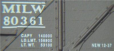 Micro Trains 60010 Milwaukee 50' Gondola 80361