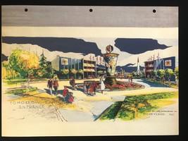 DISNEYLAND Concept Art Lithograph 60th VIP Gift 9x12 1954 Tomorrowland Entrance - $23.02