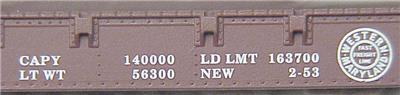 Micro Trains 45160 WM 50' Flatcar 2645