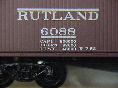 Micro Trains 39130 Rutland 40' Boxcar 6088