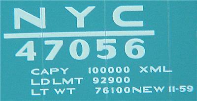 Micro Trains 34200 NYC 50' Boxcar 47056