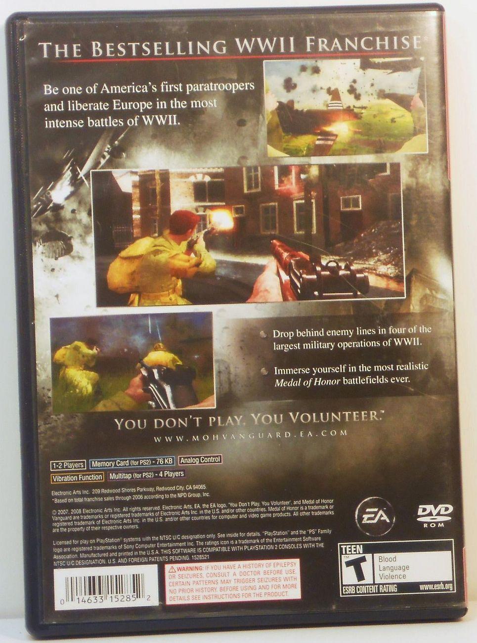 Medal of Honor Vanguard Playstation 2 video game 2007