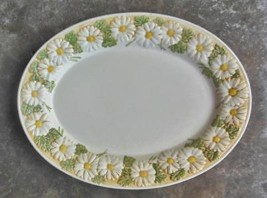 "Vintage Metlox Poppy Trail Sculptured Daisy Oval Platter 14"" - $28.00"