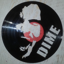 VINYL PLANET ART DIME PANTERA Home Record Unique Decor upcycled 12'' - $28.23