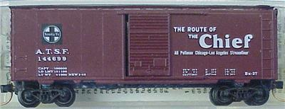 "Micro Trains Kadee 20030 ATSF ""Chief"" 40' Boxcar 144699"