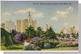 Miami, Florida/FL Postcard, Hotels Bordering Bayfront Park - $6.00