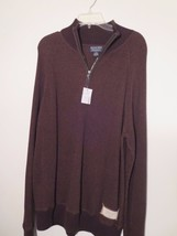 Polo / Ralph Lauren Men's L Sweater Brown Pullover With Zipper Neck 65% ... - $24.08