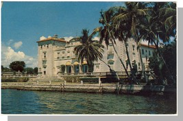 Miami, Florida/FL Postcard, Villa Vizcaya Art Museum - $5.00