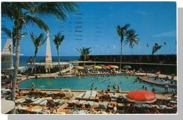 Miami, Florida/FL Postcard, Seville Hotel Pool & Cabana - $6.00