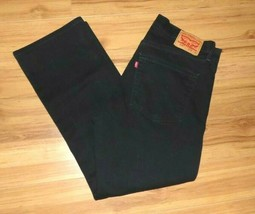 Levis 559 Relaxed Straight Fit Jeans Black Stretch Denim Size 36x30 Fits... - $21.73