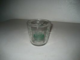 Vintage Anchor Hocking Oven Basics #496 8 oz.(1 Cup) Measuring Cup Green Letter - $19.79