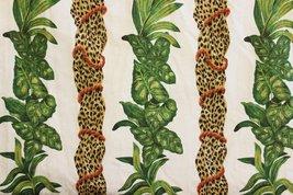 'Two Lg Curtain Panels w/ Pinch Pleats/ Leopard Print & Jungle Leaves Cu... - $450.00