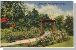 St Petersburg, Florida/FL Postcard, Rose Arbor In Sunken Gar - $7.00