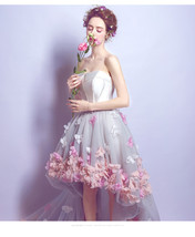 Fashion High Low Prom Dress Strapless Women Wedding Party Gowns 2019 Hom... - $92.66