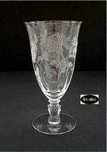 Heisey Rose Crystal Tumbler Ftd Ice Tea - $29.95