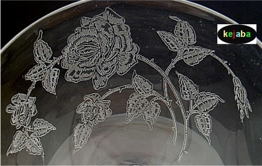 Heisey Rose Crystal Sherbet