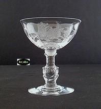 Heisey Rose Crystal Stem Saucer Champagne - $9.95