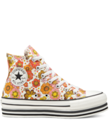Converse Womens CTAS Layer Bottom Hi 568004C Egret/Vermilion Red Size 5.... - £44.76 GBP
