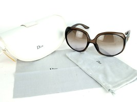Auth Christian Dior GLOSSY 1 KDCOR 62 20 125 Brown Sunglasses Italy w/ Cover - $157.41