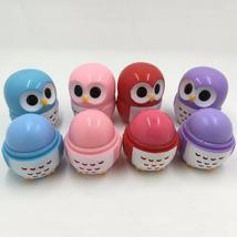 4pcs/set Makeup Owl Shape Candy Color Moisturizing Lip Balm Natural Plant Sphere - $13.58