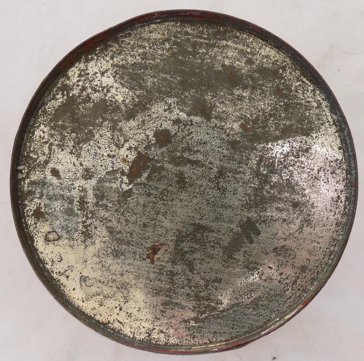 Montgomery Ward advertising tin petrolatun stenciled antique
