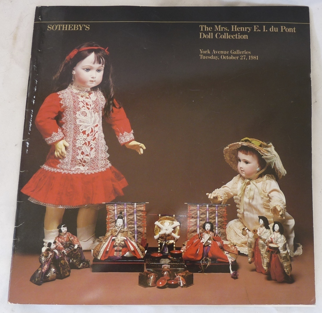Sotheby's catalog du Pont doll auction antique 1981 collecting toys