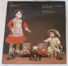 Sotheby's catalog du Pont doll auction antique ... - $9.00