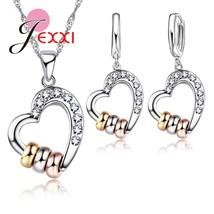 New Pretty Heart Women Jewelry Sets S90  Necklace Earrings Pendant Fashi... - $9.03