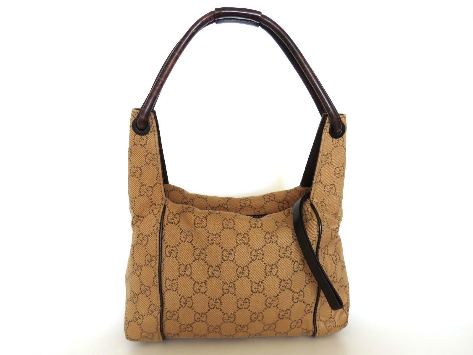91937718d S l1600. S l1600. Previous. Authentic GUCCI Original GG Canvas Leather  Brown Shoulder Bag Purse. Authentic ...