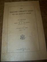 1917 WWI 2ND LIBERTY LOAN AMERICAN FARMER BROCHURE SIOUX CITY IA WG McADOO - $9.89