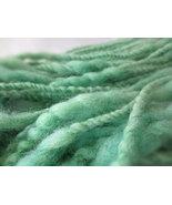 Handspun Yarn / Handspun Hand Dyed Yarn / Hand Spun Wool Yarn / Handspun Green  - $16.50