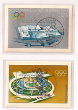 Old German Olympic Sheetlets - 1976 and 1984 - $10.00