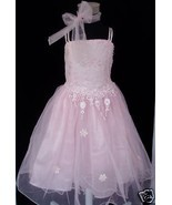 Flower Girl Party Bridesmaid Dress Scarf White,Pink,Pale Yellow 4-5, 5-6... - $16.46