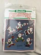 Bucilla Christmas Holiday Felt Applique Tree Ornament Kit JOYFUL SANTAS 82638 - $23.35