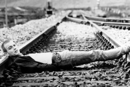 Ewan Mcgregor Trainspotting iconic lying on railway tracks 18x24 Poster - $23.99