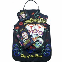 Day of the Dead Sugar Skull Kitchen Apron Set - Created for Baking, Gril... - $22.42