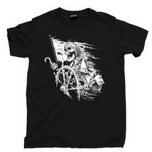 Pirate Captain T Shirt, Skull & Crossbones Jolly Roger Men's Cotton Tee Shirt - $13.99+