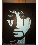 original Pop Art Painting ALICE COOPER on 11x14 stretched canvas - $94.95