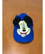 Boys Baby Disney Mickey Mouse Blue Baseball Cap Summer Hat Size 2-4T 2T ... - $4.94