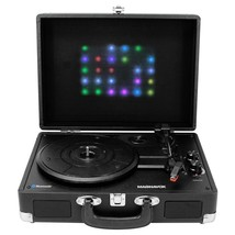 Magnavox 3-Speed Bluetooth Suitcase 3-in-1 Turntable Record Player System New - $106.41
